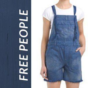 NWT Free People Women Short Denim Overall